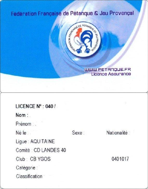 Licence dans Licences